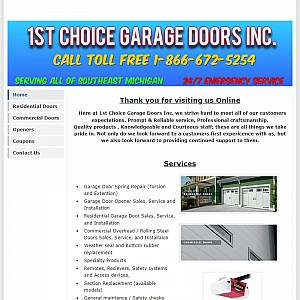1st Choice Garage Doors Inc.