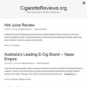Electronic Cigarette Reviews