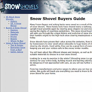Buying A Snow Shovel