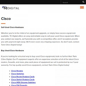 Sell cisco equipment