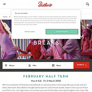 February Half Term Breaks - Butlins