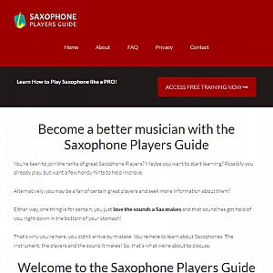 Saxophone Players Guide