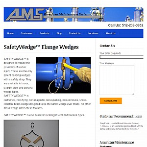 Brass Wedge From SafetyWedge are the Safest!
