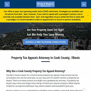Chicago Real Estate Tax Appeal Attorney Richard Shapiro