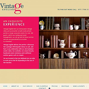 Vintage China Hire and Event Catering