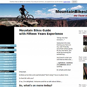 Mountain bikes menu