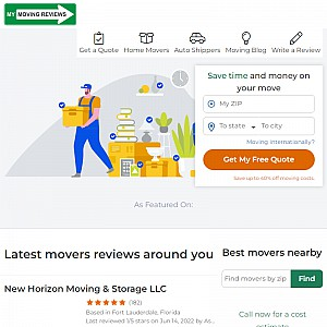 Reviews of moving companies