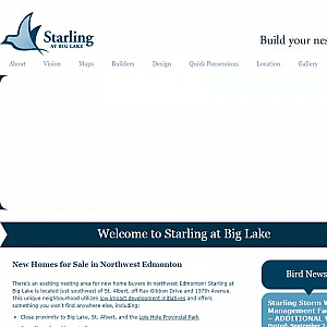 Starling at Big Lake - Alberta Real Estate - New Homes