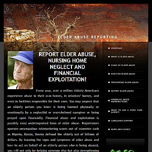 Report Elder Abuse, Nursing Home Neglect, Financial Exploitation, Senior Support Services