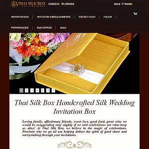 Thai Silk Box The perfect Wedding invitations for your special day