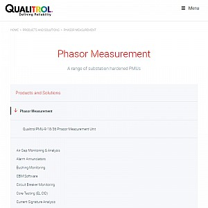 Qualitrol's Phasor Measurement Units
