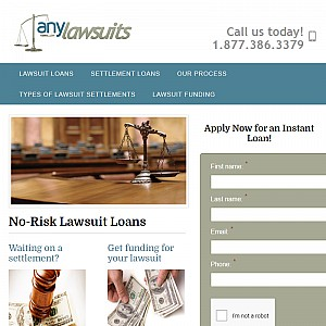 AnyLawsuits Settlement Loans