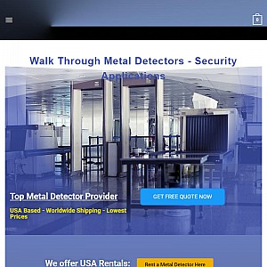Top Walk Through Metal Detector Manufactured
