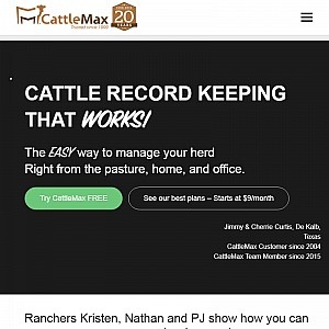 CattleMax livestock software