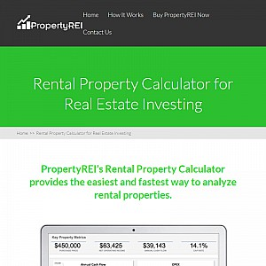 PropertyREI - Rental Property Calculator, Rental Property Analysis