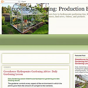 Hydroponic Gardening Production Blog