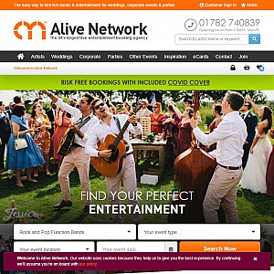 One of the UK's leading Entertainment Agencies - Alive Network