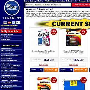 Rechargeable Batteries at OnlyBatteries.com