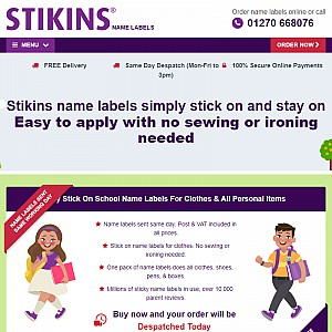 Stikins Name Labels