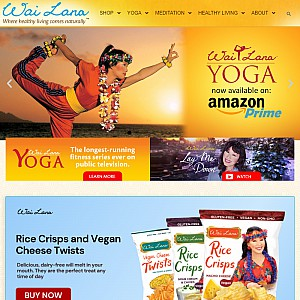 Wai lana Yoga - Yoga Products, DVD's, Supplements & Healthy Snacks