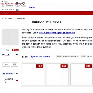Http://www.cozycatfurniture.com/cat_houses/outdoorcathouse.html
