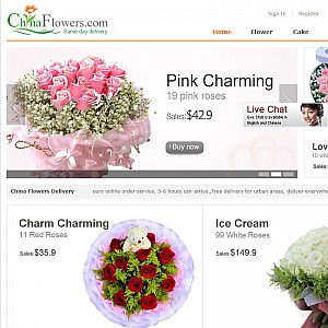 Send flowers to China
