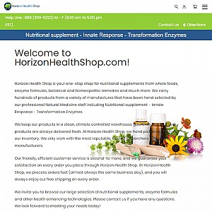 Horizon Health Shop