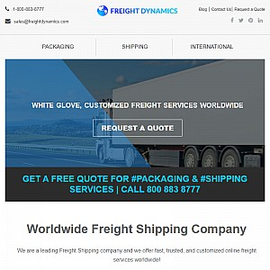 Freight Shipping Company Worldwide Logistics