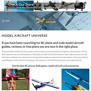Scale Model Aircraft Plans & Blueprints