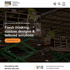 ASG Services LLC | Warehouse Signs, Barcode Labels and Floor Striping