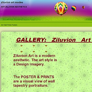 ZILUVION - Wall Art Aesthetics Contemporary Decor