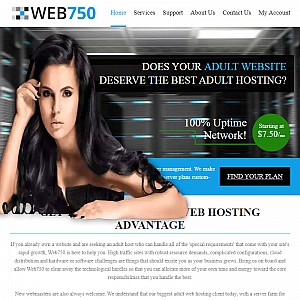 Adult Web Hosting by Web750