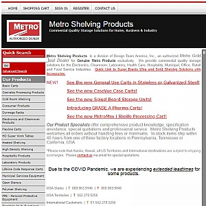 Metro Shelving Products