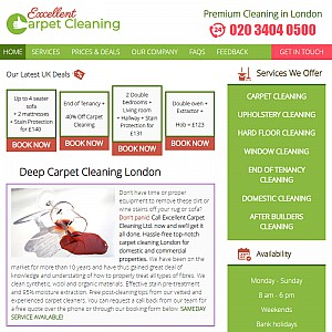 Excellent Carpet Cleaning In London
