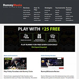 Provides Information on Online Rummy