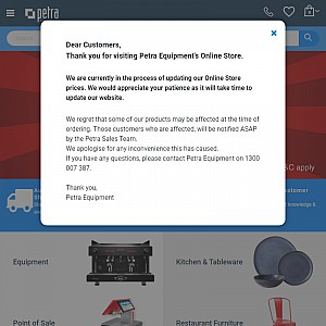 Catering Equipment @ Petra Equipment