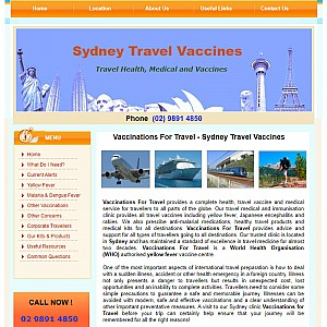 Sydney Travel Vaccines - Travel vaccination