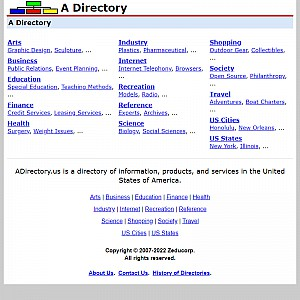 A Directory - United States Website Directory