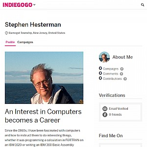 Individual Profile on Indiegogo