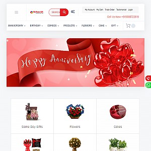 Send Online Flowers and Cakes to India - Myflowergift
