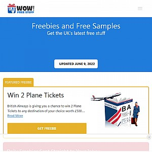 WOW FreeStuff | Freebies And Free Samples UK
