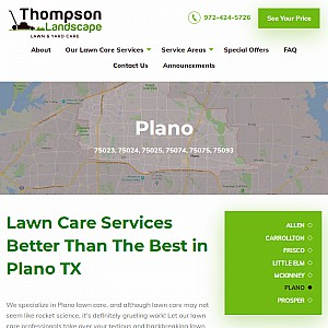 Plano Lawn Care - Thompson Landscape