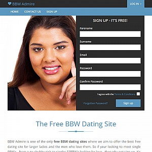 The Free BBW Dating Site