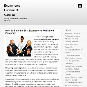 Ecommerce Fulfillment Canada