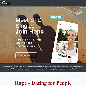 Hope - The free herpes dating site | STD dating App