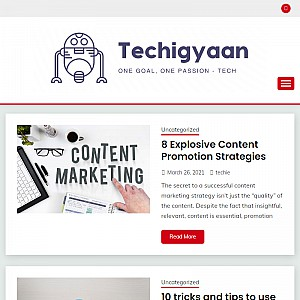 TechiGyaan is the trustful resource for blogging tips, blogging resources, how to create a blog