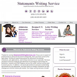 Statements Writing Services