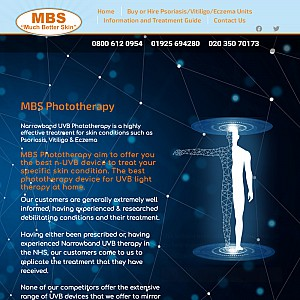 MBS Much Better Skin - UVB Tubes & Cabinets for Psoriasis Treatment