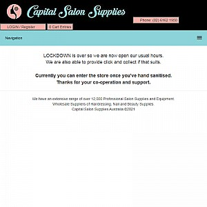 Capital Salon Supplies for all your salon needs in Australia