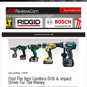 Just Cordless Drill Reviews
